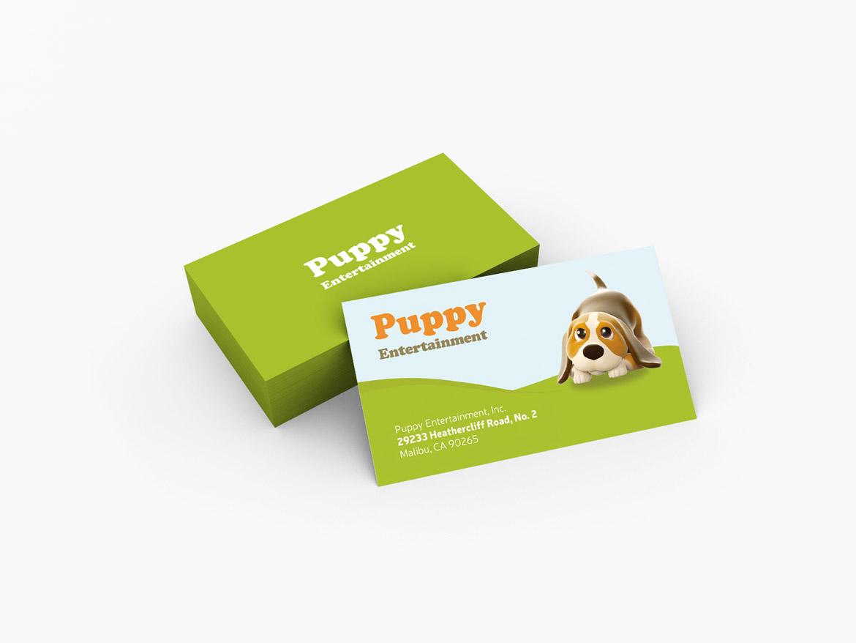 Puppy entertainment business card design whale shark studio puppy entertainment business card design colourmoves