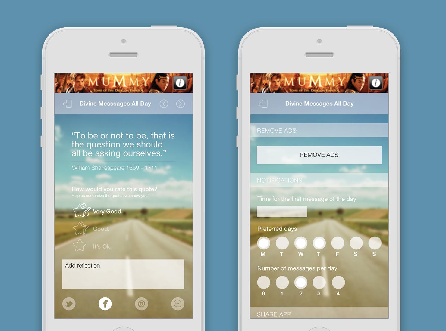 Divine Messages App UI