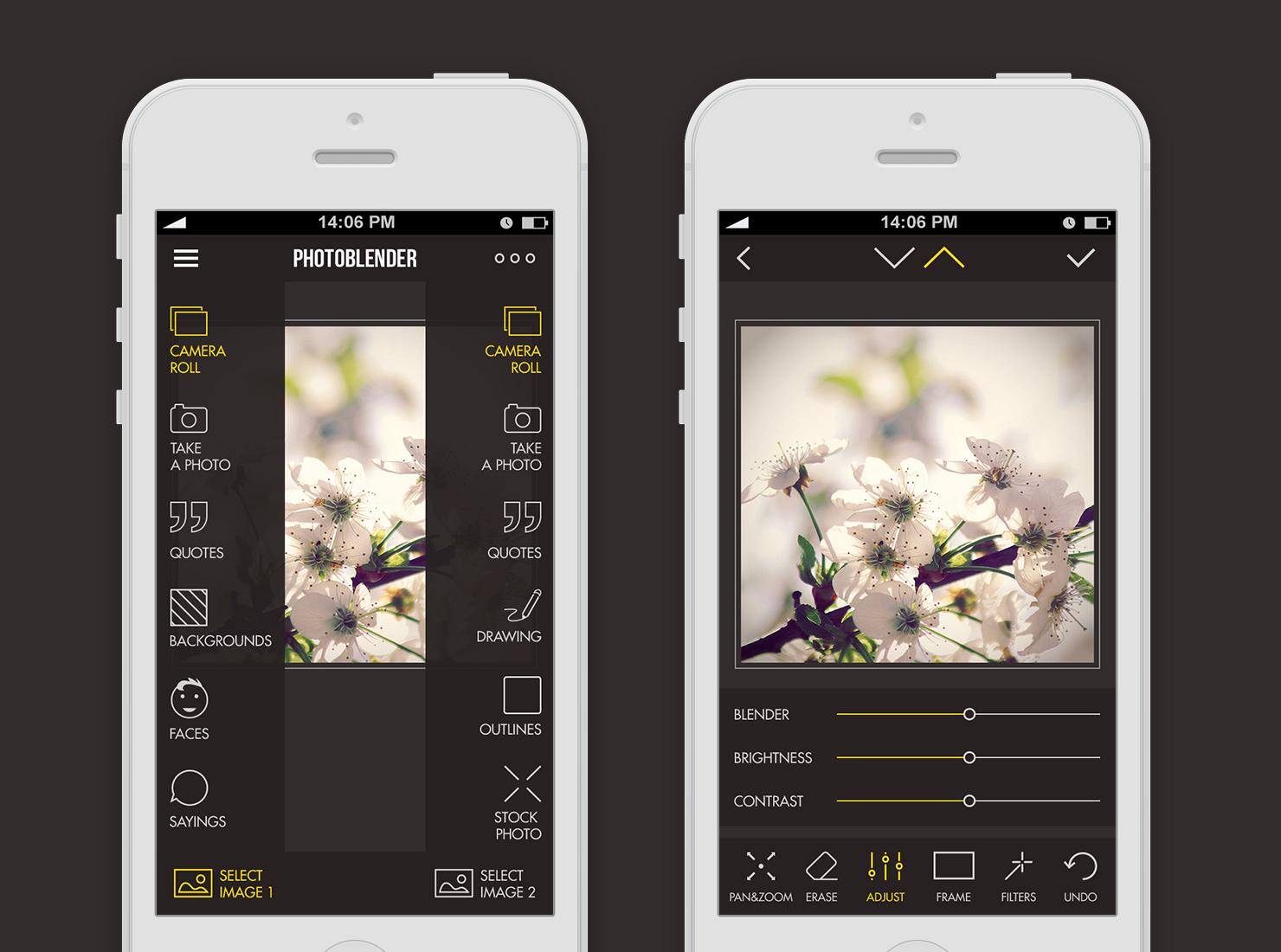 Photoblender UI design