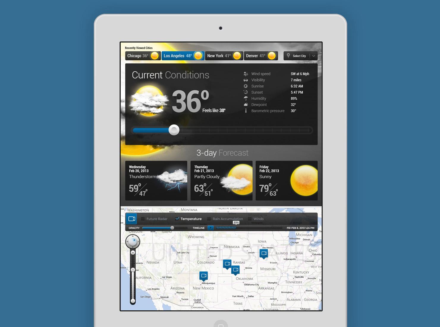 Weather Application UI design
