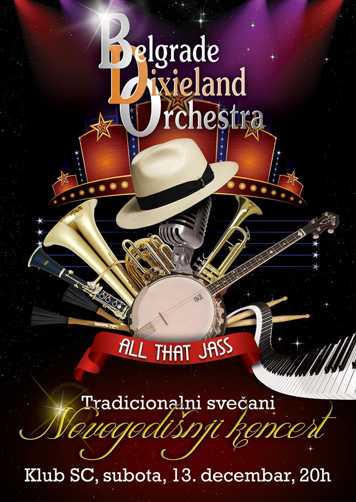 belgrade dixieland orchestra poster design